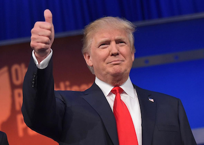 Trump's massive hands